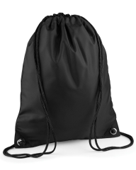 THURSO HIGH SCHOOL BLACK PREMIUM GYMSACK/SHOEBAG WITH LOGO